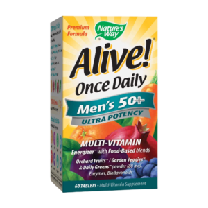 ALIVE! ONCE DAILY MEN'S 50+ ULTRA POTENCY TABS 60'S