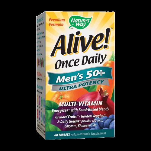 ALIVE! ONCE DAILY MEN'S 50+ ULTRA POTENCY TABS 60'S