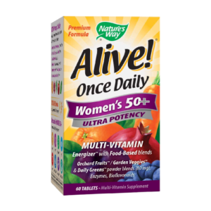 ALIVE! ONCE DAILY WOMEN'S 50+ ULTRA POTENCY TABS 60'S