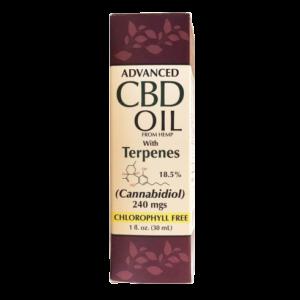 CBD Hemp Oil 240mg 18.5 with terpenes 1oz